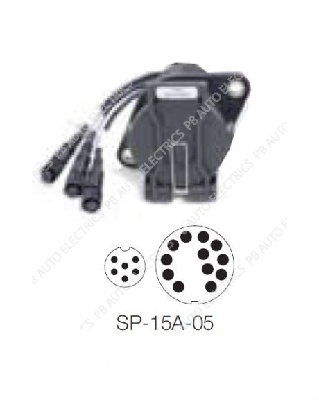 Brigade SELECT SP-15A-05 Coiled Cables Kit Part 15-Pin Bulkhead Socket for Cab & Cab End – 5064
