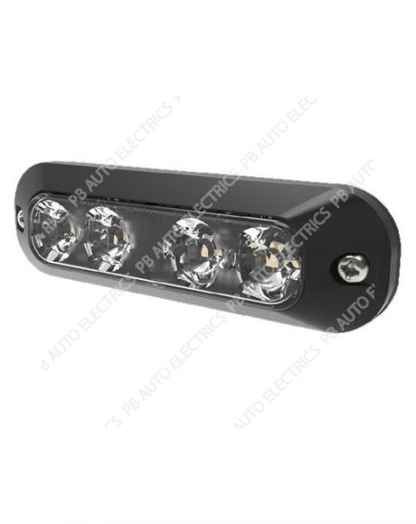 ECCO Vision Alert AMBER 4 LED Warning Light Reg65 IP67 12-24v - ED3704A