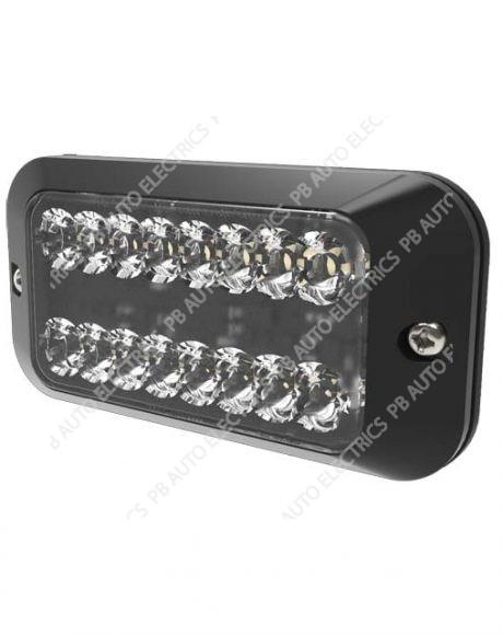 ECCO Vision Alert AMBER 16 LED Dual Warning Light Reg65 IP67 12-24v - ED3789A