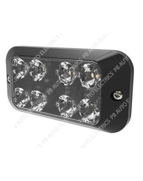 ECCO Vision Alert AMBER 8 LED Single Warning Light Reg65 IP67 12-24v - ED3788A