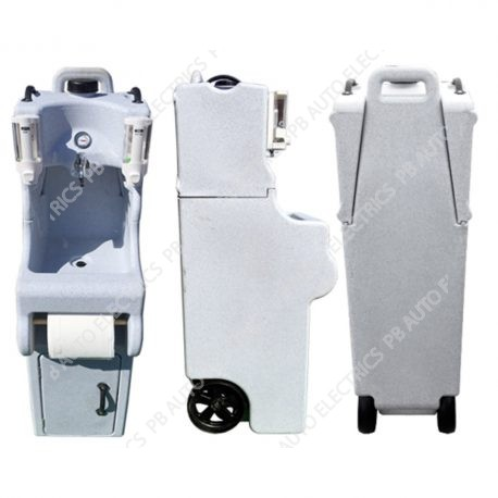 Portable Hot Water Hand Wash Sink Station With Soap, Towel & Sanitiser Dispensers - TESHWS1