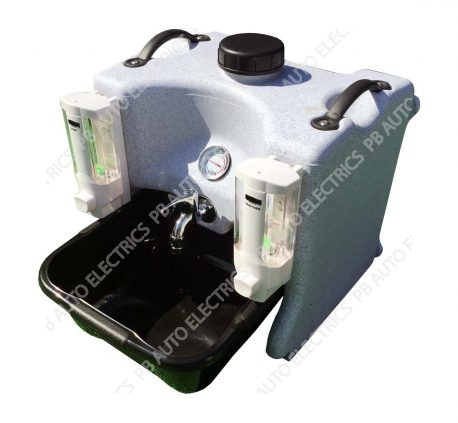 Portable Hot Water Hand Wash Sink Station With Soap & Sanitiser Dispensers - TESHW1