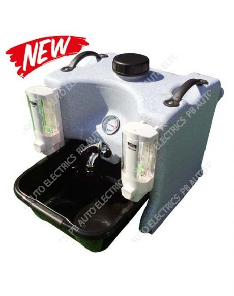 Portable Hot Water Hand Wash Sink Unit With Soap & Sanitiser Dispensers - TESHW1