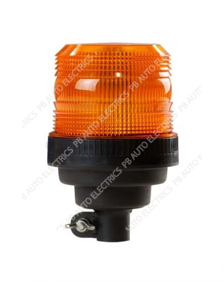 ECCO LED Series Bronze R10 Mini DIN Pole 12-24v AMBER LED Beacon - EB5012A
