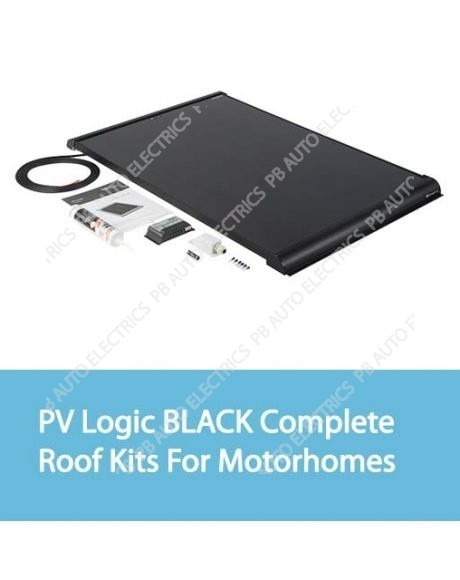Solar Technology PV Logic BLACK Complete Roof Kits For Motorhomes