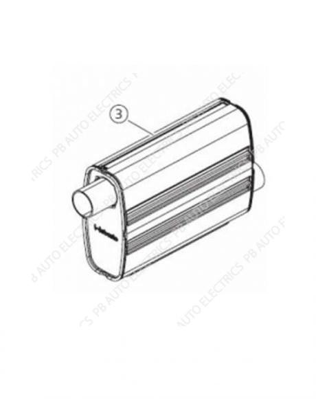 Webasto Exhaust Silencer 22mm - 1320991A