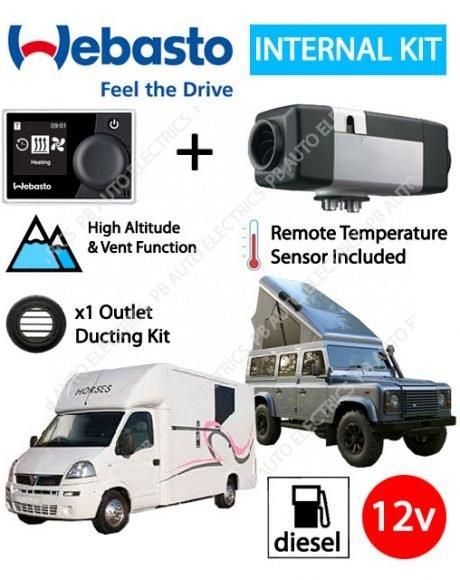 Webasto Air Top 2000 STC Sportshome/Horsebox Air Heater Diesel 12v MultiControl Internal Mount Kit & 1 Outlet Ducting Kit
