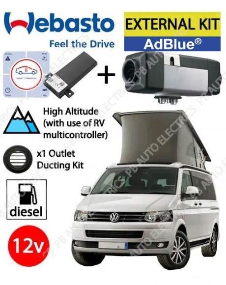 Webasto Air Top 2000 STC VW T6 Underfloor Air Heater Kit Diesel AdBlue 12v TCon2 Control, Installation & 1 Outlet Ducting Kit