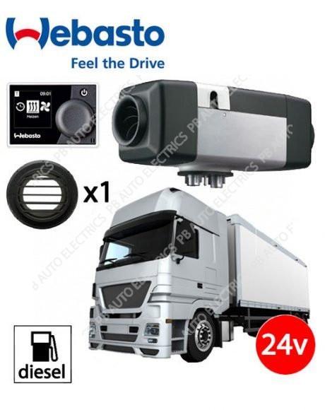 Webasto Air Top Evo 40 Universal Heater Kit Diesel 24v HD Multi Control & 1 Outlet Ducting Kit - 4111388B/MC