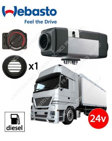 Webasto Air Top Evo 40 Universal Heater Kit Diesel 24v Rotary Control & 1 Outlet Ducting Kit - 4111388B/1